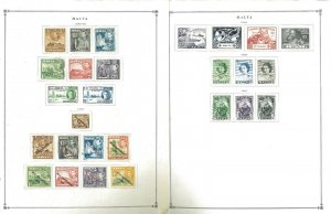 Malta 1943-1999 Mostly Mint w/Some Used Hinged on Scott Int. Pages