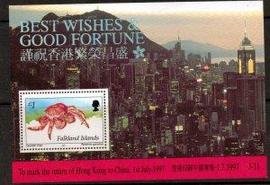 FALKLAND ISLANDS SGMS784 1979 RETURN TO HONG KONG MNH