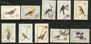ROMANIA Scott C60-9 used CTO Airmail Bird set 1959