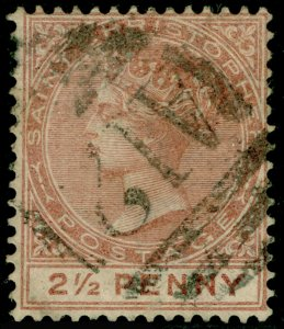 ST CHRISTOPHER SG14, 1882 2½d Pale Red Brown, FINE USED. Cat £60.