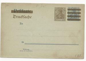Germany Overprint Postal Card Unused Mi #PZD2Y
