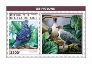 HERRICKSTAMP NEW ISSUES CENTRAL AFRICA Pigeons S/S