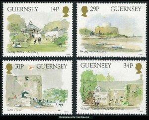 Guernsey Scott 342-345 Mint never hinged.