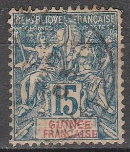 French Guinea #7 F-VF  Used  CV $8.00 (A12992)