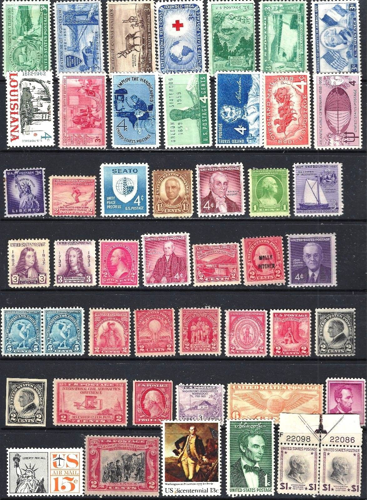 NICE SELECTION OF CLASSIC US MINT STAMPS MISC FINE HipStamp