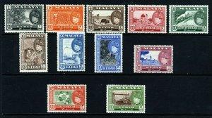 KEDAH MALAYSIA 1957 The Complete Sultan Badlishah Set SG 92 to 102 MINT