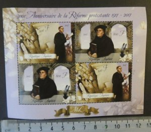 Togo 2017 protestant reformation religion martin luther m/sheet mnh