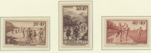 France Stamps Scott #B60 To B62, Mint Hinged