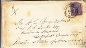 1889, Brussels, Belgium to Virginia W/Letter Enclosed, See Remark (4663)