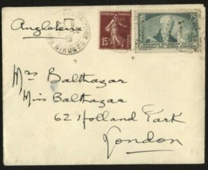 FRANCE 1935 cover to London - nice franking................................71053