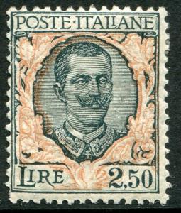 ITALY # 90 Average Light Hinged Issue - VICTOR EMMANUEL III - S5647