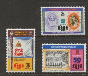 Fiji - Scott 354-356- General Issue 1974 - MNH - Set of 3 Stamps