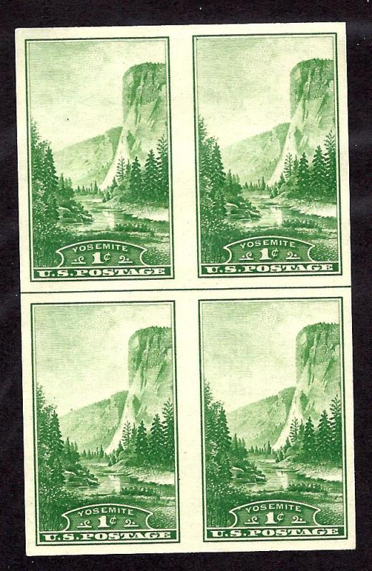 756 Mint,NGAI,NH... Horizontal Line Block of 4... SCV $1.10