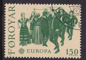 Faroe Islands  #63  used  1981  Europa   150o