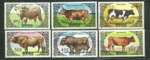 Mongolia MNH 1420-5 Cattle Mammals