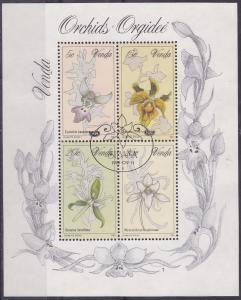 Venda 1981 Orchids mini sheet VFU