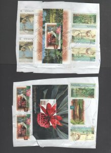 Australian Stamps Used X16 $10 Wildflowers Kangaroo Kakadu Botanical  $5 Holiday