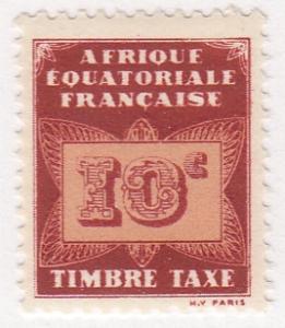 French Equatorial Africa, Scott #J2, MH