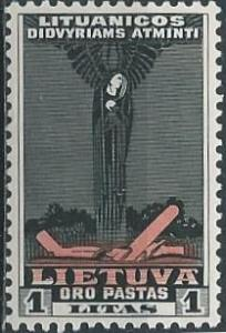 Lithuania C82 (mh) 1 litas Angel of Death (1934)
