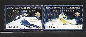 PALAU, 678-679, MNH, 2002 WINTER OLYMPICS SALT LAKE CITY