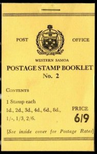 """Western Samoa  1967 SG SB 13 6/9 booklet, Cat. """"from £42"""""""