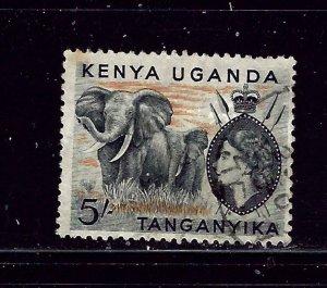 Kenya UT 115 Used 1954 Elephants