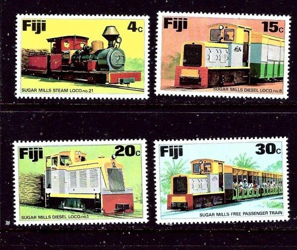 Fiji 361-64 MNH 1976 Locomotives    (ap4340)