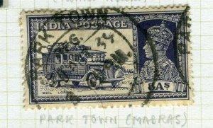 INDIA; POSTMARK fine used cancel on GVI issue, Park Town Madras