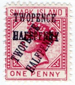 (I.B) Cinderella Collection : Gerald King Wonderland (Snark Island 2½d on 1d OP)
