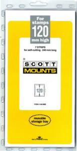 Scott Mounts Black 120mm STRIP 240mm, (Pgk. 7)(00948B)