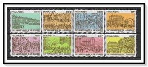 Rwanda #993-1000 Independence Set MNH
