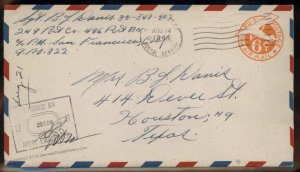 USA WWII APO Airmail Military Mail Cover 93805