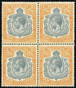 Bermuda #AR1 King George V Block of 4; MNH (4Stars)
