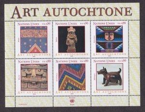 U.N. - Geneva # 405, Indigenous Art, NH, Half Cat