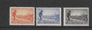 Australia 142-44  australia 1934 set 3  mint  lh