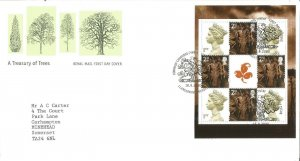 A Treasury Of Trees Royal Mail First Day Cover 2000 Llangernyw Abergele PM Z9337
