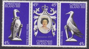 Christmas Island # 87a-c, Queen Elizabeth's Coronation 25th Anniversary, NH, 1/2