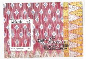 Malaysia 2005 Songkets S/S Sc 1023 MNH Bo22