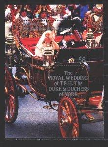 Saint Vincent and the Grenadines. 1986. bl7. Princess wedding, royal family o...