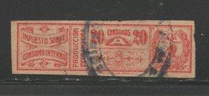 Paraguay Revenue Fiscal Stamp 12-14-20-4c