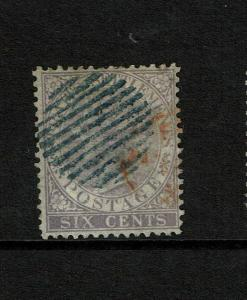 Straits Settlements SG# 13a, Used Blue Cancel (See Notes) - S7483