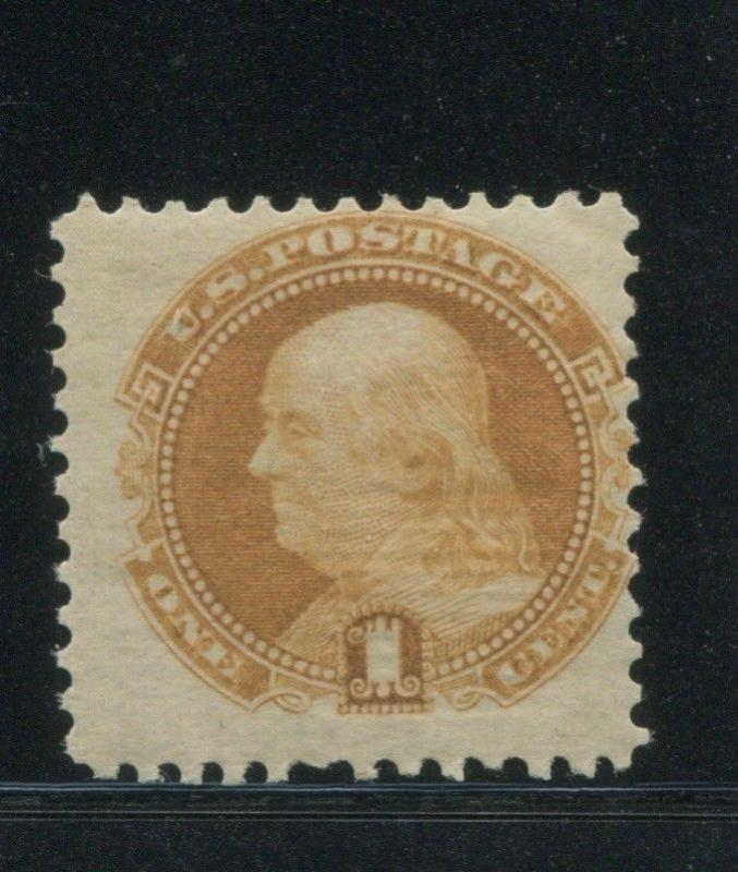 1869 US Stamp #112 1c Mint Average Lightly Hinged G. Grill Catalogue Value $575