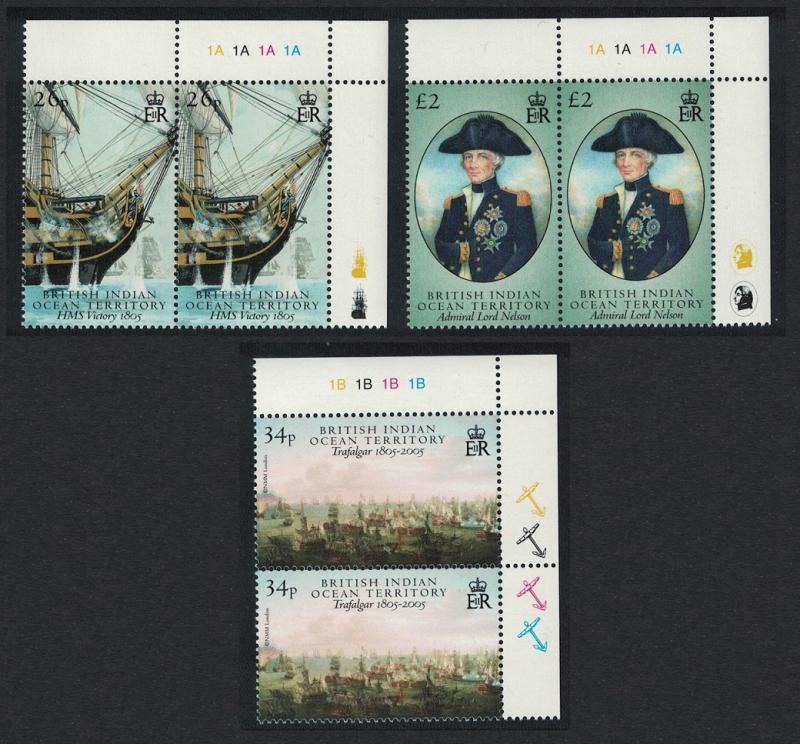 BIOT Battle of Trafalgar part 2 3v Top Right Pairs SG#344-346
