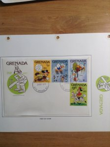 Grenada  #  950-958  First day cover