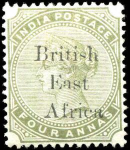 British East Africa On India #63 4a MLH 1895  VF