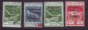 J20050 jlstamps 1920 fiume mh #104-7 ovpt,s