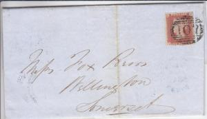 1847, Great Britain #3 on a cover (HS040)