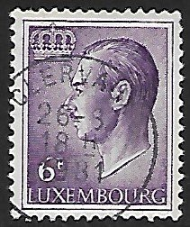 Luxembourg # 428 - Grand Duke Jean - 6F - used...(KlGr)
