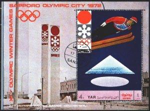 Yemen. 1970. bl147. Sapporo Winter Olympics. USED.