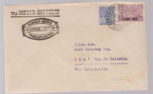 1931 Brazil Graf Zeppelin cover to Cali Colombia SCADTA rep